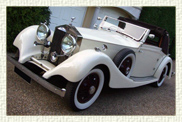 1930 Rolls Royce Phantom II Continental half-back convertible in White with White walled tyres