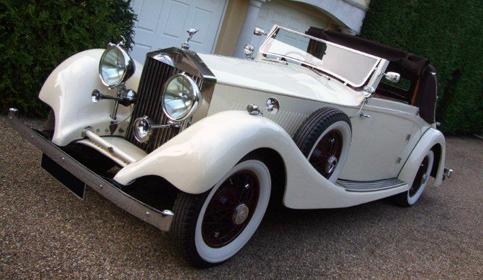 1930 Rolls Royce Phantom Ii Sedanca De Ville In White With