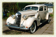 1936 Vintage Buick Limousine in White