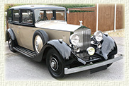 1937 Vintage Rolls Royce 20-30 in Black over Champagne(with White hubs)