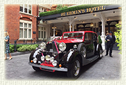 1937 Vintage Rolls Royce Phantom III Continental Sports Saloon in Red and Black