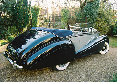 1951 Bentley MK VI convertible in Black over Ivory