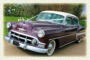 1953 Cheverolet Belair in Metallic Plum with Ivory Roof