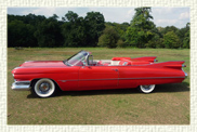 Iconic 1959 Cadillac convertible