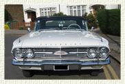 1960 Chevrolet Impala 2 door convertible in White 4 passenger model (including   driver)