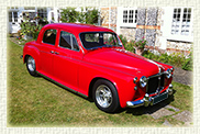 1960 Custom Built Rover 100 in Tornado Red with light biscuit leather interior