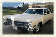 1966 Cadillac Fleetwood 7 passenger Limousine in White