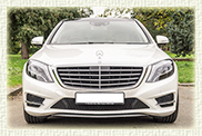 Brand New 2014 model LWB S Class Mercedes in White with cream leather interior