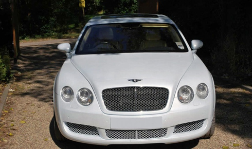 Bentley Continental Flying Spur in White with cream leather interior and private plates (LWB long wheelbase model)