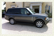 Range Rover Vogue Supercharger in Silver Grey with Cream leather interior.