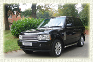 Range Rover Vogue Supercharger in Black with Black leather interior.