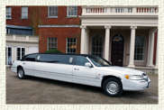 10 seater (8 passenger) Millennium American Stretch Limousine in White