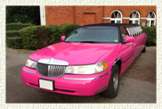 10 seater (8 passenger) American Stretch Limousine in Pink