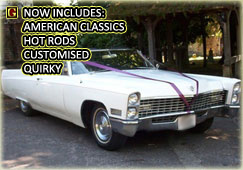 AMERICAN CLASSIC WEDDING VEHICLE HIRE - CLICK HERE
