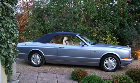Bentley Azure Convertible in Silver Blue with electronic retractable roof