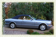 Bentley Azure Convertible in Silver Blue with electronic retractable roof.