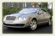 Bentley Continental Flying Spur in Silver Tempest with Black Leather interior and private plates (long wheelbase model)