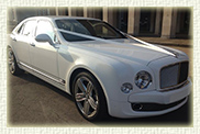 Bentley Mulsanne in White with cream leather interior