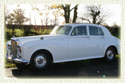 1964 Bently S3 in polar white with cream leatherand beige carpet. with beige Webasto Sunroof