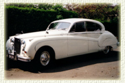 Jaguar Mk 9 Old English White with Red Leather Interior
