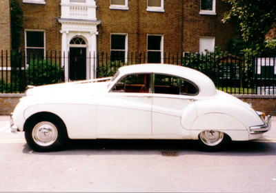 Jaguar on Jaguar Mk 9 Old English White With Red Leather Interior