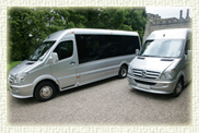 12 and 16 passenger Luxury Mini coaches in Silver
