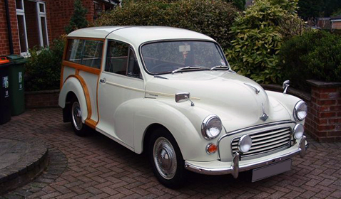 Morris Minor 'Shooting Brake' in White