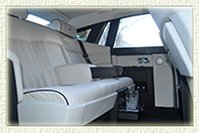 Rolls Royce Phantom Limousine in Silver with Seashell leather interior and private plates