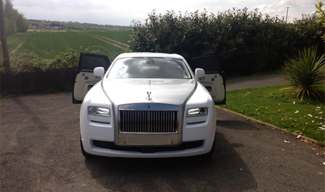 Rolls Royce Silver Ghost in White with Silver Bonnet, cream leather interior and private plates