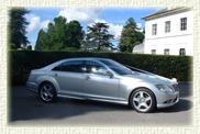 New shape Silver LWB S Class Mercedes 500