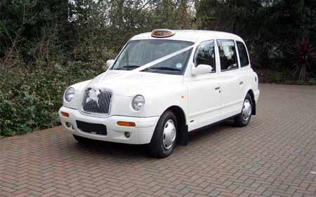 White wedding taxi er05 wed